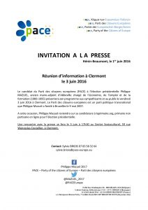 invitation à la presse clermont